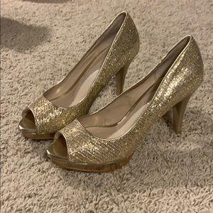 Aldo Gold Sequin Heels